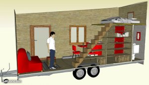 plan 3d Tiny-House, Toc Toc Tiny