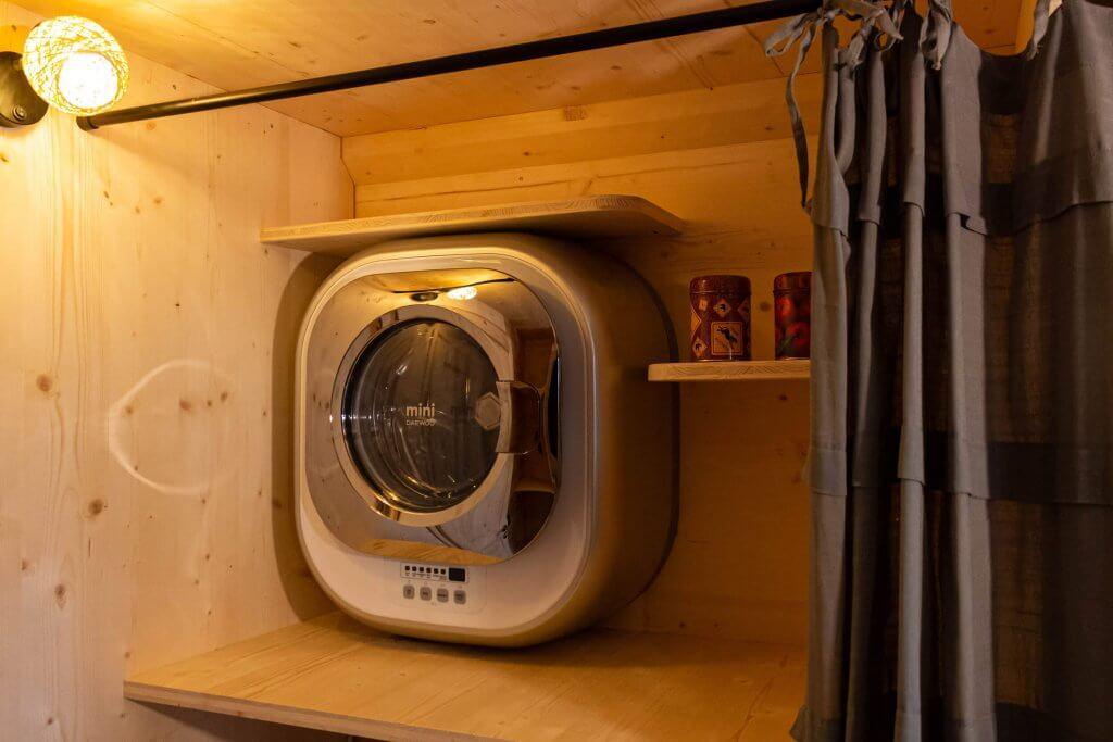 machine à laver en tiny house