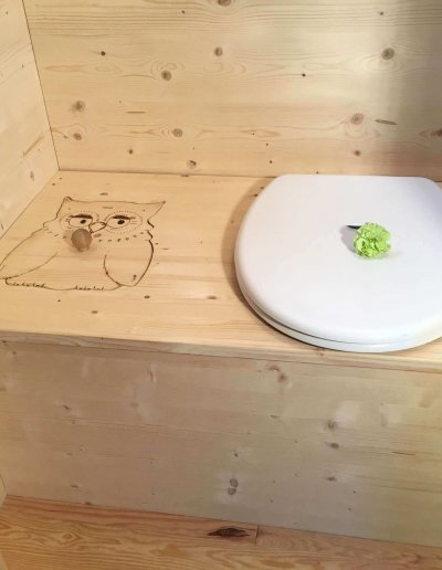 toilette sèches à la sciure tiny house